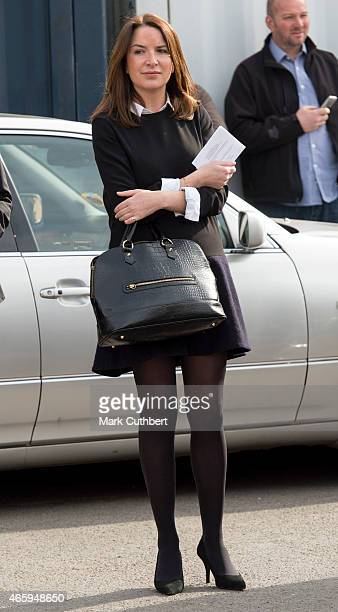Rebecca Deacon during an official visit by Catherine Duchess of Cambridge to the set of Downton Abbey at Ealing Studios on March 12 2015 in London...