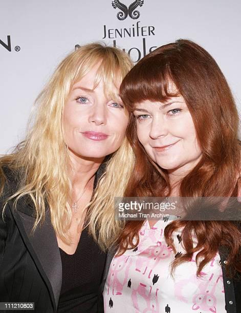 Rebecca DeMornay and Jennifer Nicholson designer during MercedesBenz Spring 2007 Los Angeles Fashion Week at Smashbox Studios Jennifer Nicholson...