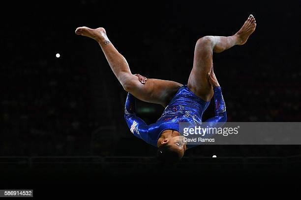Rebecca Downie of Great Britain competes on the balance beam during Women's qualification for Artistic Gymnastics on Day 2 of the Rio 2016 Olympic...