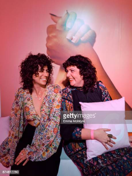 Rebecca Drake attends the #TEAMPIXEL x GIRLGAZE launch event hosted by Google and Amanda De Cadenet on November 15 2017 in Los Angeles California