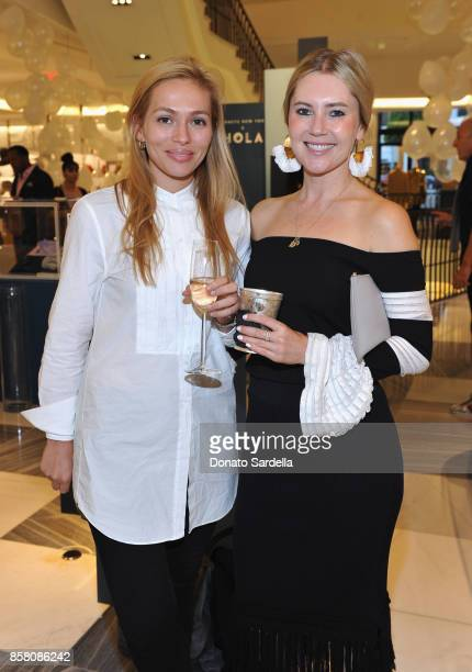 Rebecca Eydeland and Georgii Speakman attend a Cocktail Event in support of HOLA Heart of Los Angeles hosted by Barneys New York at Barneys New York...
