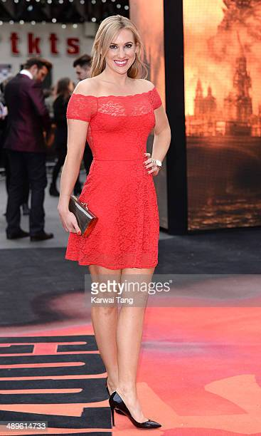 Rebecca Ferdinando attends the European premiere of 'Godzilla' held at the Odeon Leicester Square on May 11 2014 in London England