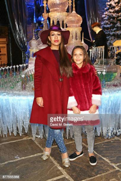 Rebecca Ferguson and daughter Lillie May Dures attend the VIP launch of 'Hogwarts In The Snow' at Warner Bros Studio Tour London The Making Of Harry...