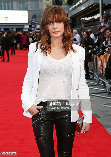 """Rebecca Ferguson arrives for the UK film premiere Of """"Florence Foster Jenkins"""" at Odeon Leicester Square on April 12, 2016 in London, England."""