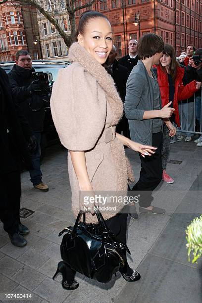 Rebecca Ferguson arrives for the X Factor press conference at The Connaught Hotel on December 9 2010 in London England