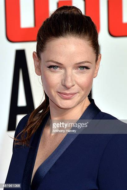 """Rebecca Ferguson attends an exclusive screening of """"Mission: Impossible Rogue Nation"""" at BFI IMAX on July 25, 2015 in London, England."""
