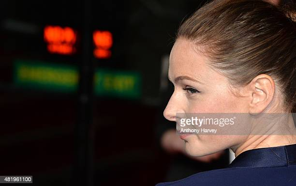 Rebecca Ferguson attends an exclusive screening of Mission Impossible Rogue Nation at BFI IMAX on July 25 2015 in London England
