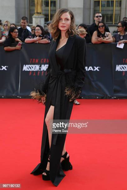 Rebecca Ferguson attends the 'Mission Impossible Fallout' Global Premiere on July 12 2018 in Paris France