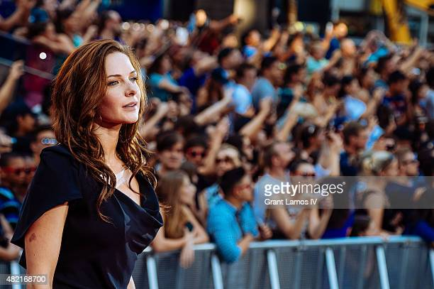 Rebecca Ferguson attends the 'Mission Impossible Rogue Nation' New York Premiere at Duffy Square in Times Square on July 27 2015 in New York City