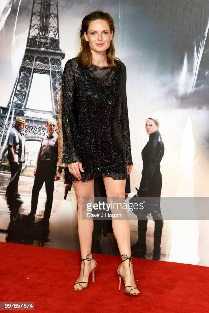"Rebecca Ferguson attends the UK Premiere of ""Mission: Impossible - Fallout"" at BFI IMAX on July 13, 2018 in London, England."