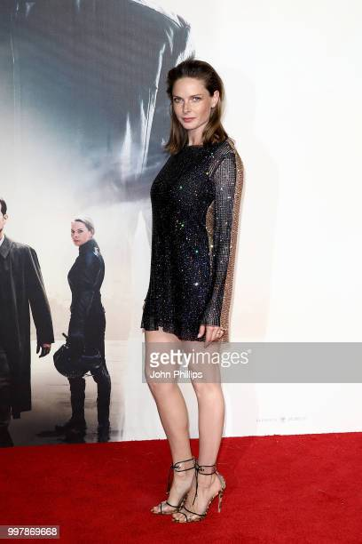 Rebecca Ferguson attends the UK Premiere of 'Mission Impossible Fallout' at the BFI IMAX on July 13 2018 in London England