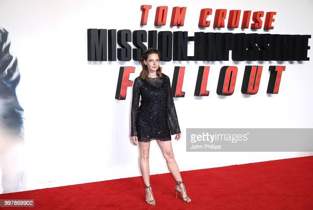 Rebecca Ferguson attends the UK Premiere of 'Mission: Impossible - Fallout' at the BFI IMAX on July 13, 2018 in London, England.