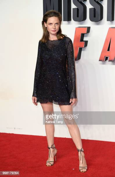 Rebecca Ferguson attends the UK Premiere of Mission Impossible Fallout at BFI IMAX on July 13 2018 in London England