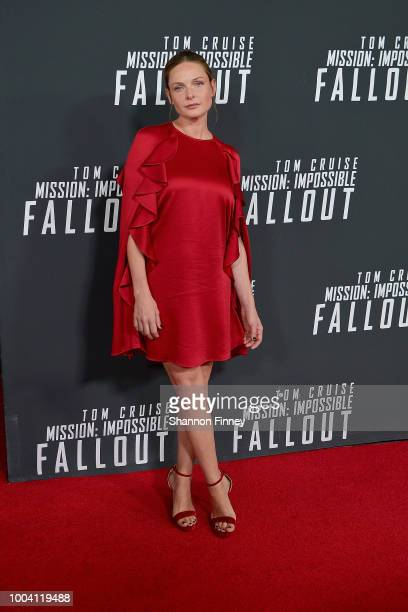 Rebecca Ferguson attends the US Premiere of Mission Impossible Fallout at Smithsonian's National Air and Space Museum on July 22 2018 in Washington DC
