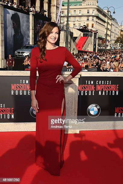 Rebecca Ferguson attends the world premiere of 'Mission Impossible Rogue Nation' at the Opera House on July 23 2015 in Vienna Austria