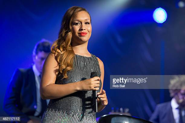 Rebecca Ferguson performs at The Henley Festival on July 13 2014 in HenleyonThames England