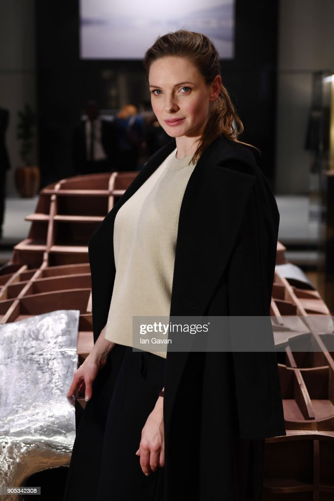 Rebecca Ferguson poses during Jaeger-LeCoultre Polaris at the SIHH 2018 at Pavillon Sicli on January 15, 2018 in Les Acacias, Switzerland.