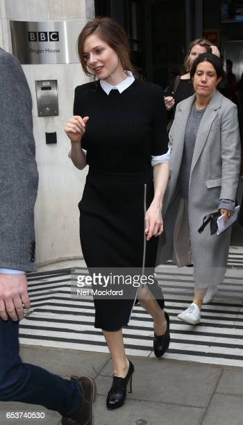 Rebecca Ferguson seen at BBC 2 Radio Studios on March 16 2017 in London England