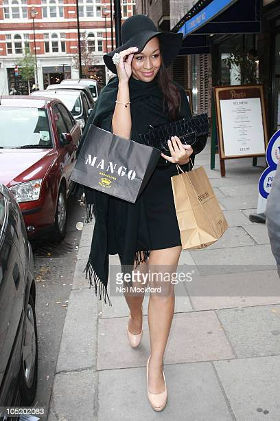 Rebecca Ferguson sighted in Covent Garden on October 12 2010 in London England