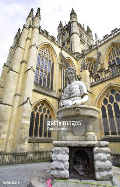 Rebecca fountain at Bath Abbey in England