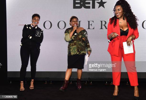 Rebecca Francois Sapphira Martin and Alysha Pamphile onstage at House Of BET An Immersive Experience on February 02 2019 in Atlanta City