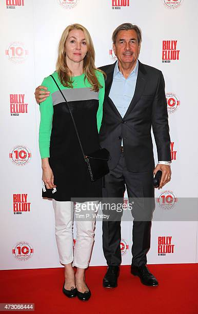Rebecca Frayn and Andy Harries arrive for the 10 Year Anniversary performance of Billy Elliot at Victoria Palace Theatre on May 12 2015 in London...
