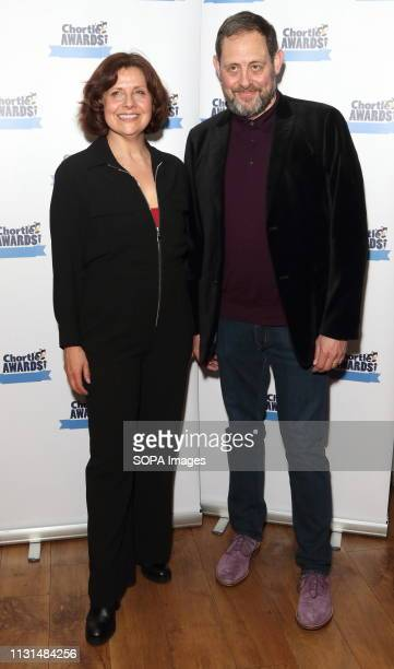 Rebecca Front and Jeremy Front at the Chortle Comedy Awards at FEST, Camden Town.