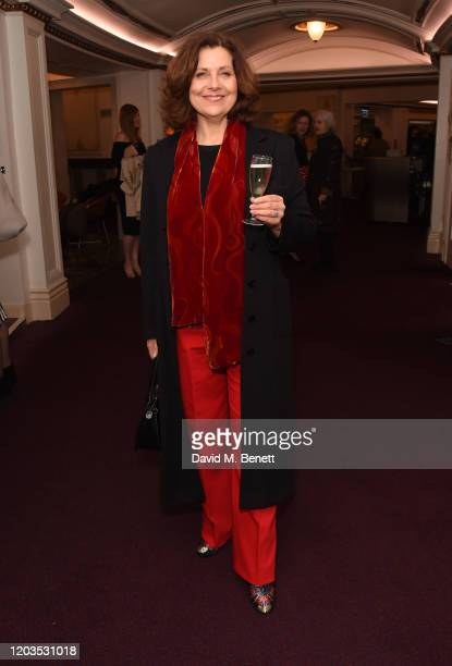 Rebecca Front attends the press night performance of Madam Butterfly part of the English National Opera's 2019/20 season at The London Coliseum on...