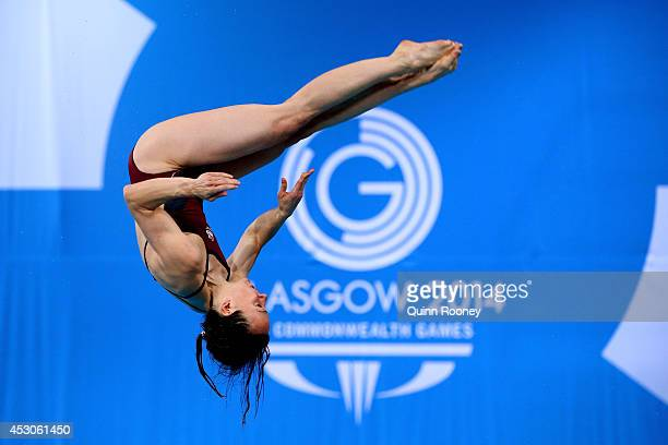 Rebecca Gallantree of England competes in the Women's 3m Springboard Preliminaries at Royal Commonwealth Pool during day ten of the Glasgow 2014...