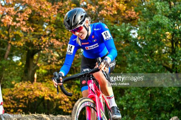 Rebecca Gariboldi from Italy during the Women's Elite race at the European Cyclocross Championships - Day Three on November 4, 2018 in...