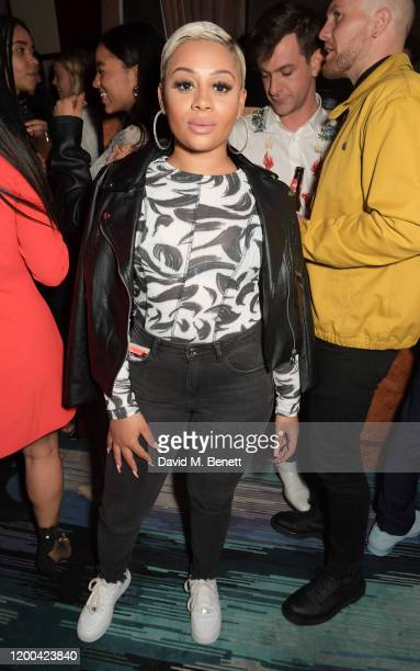 Rebecca Garton attends the NME Awards after party in association with Copper Dog at The Standard on February 12 2020 in London England