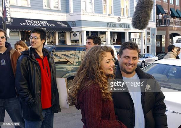 Rebecca Gayheart and Brett Ratner arriving at the Chrysler Lounge at the Chrysler Million Dollar Film Festival