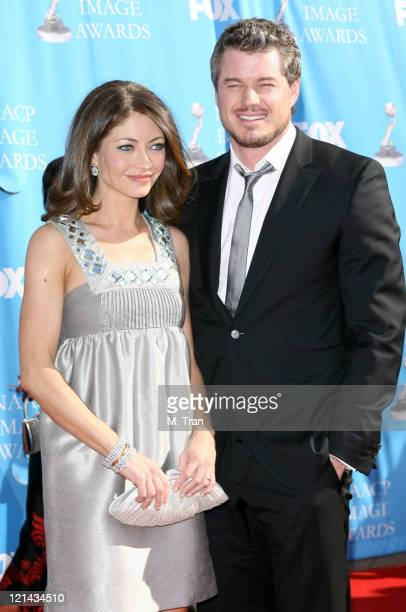 Rebecca Gayheart and Eric Dane during 38th Annual NAACP Image Awards - Arrivals at Shrine Auditorium in Los Angeles, California, United States.