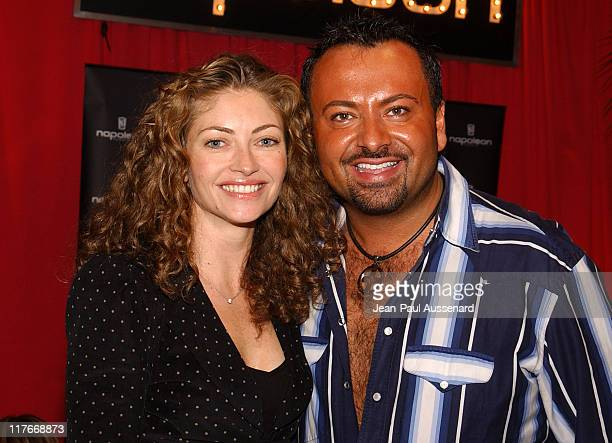 Rebecca Gayheart and Napoleon Perdis during Silver Spoon PreGolden Globe Hollywood Buffet Day 2 at Private Residence in Los Angeles California United...