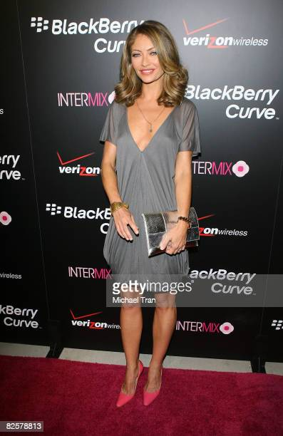 Rebecca Gayheart arrives to the launch party of the pink Blackberry Curve on the 15th Anniversary of the Intermix clothing boutique held at Intermix...