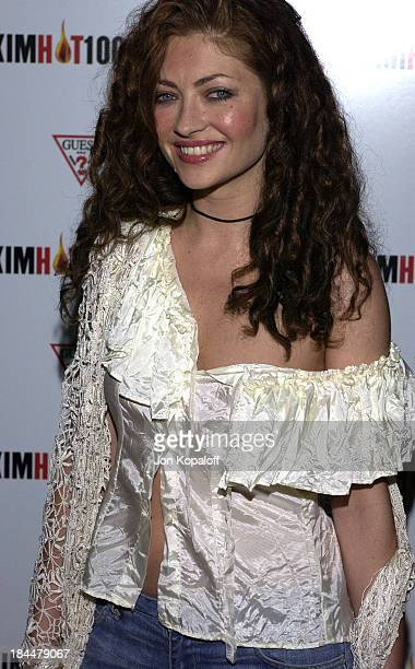 Rebecca Gayheart during Maxim Hot 100 Party Arrivals at Yamashiro in Hollywood California United States