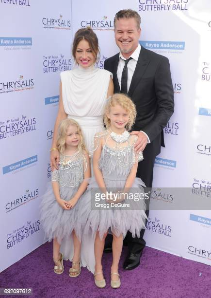 Rebecca Gayheart Eric Dane Georgia Dane and Billie Beatrice Dane arrive at the 16th Annual Chrysalis Butterfly Ball at a private residence on June 3...