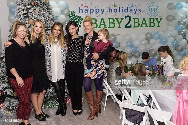 Rebecca Gayheart Kelly Sawyer Patricof Jessica Alba Norah Weinstein Busy Philipps and Birdie Silverstein attend Baby2Baby Holiday Party Presented By...