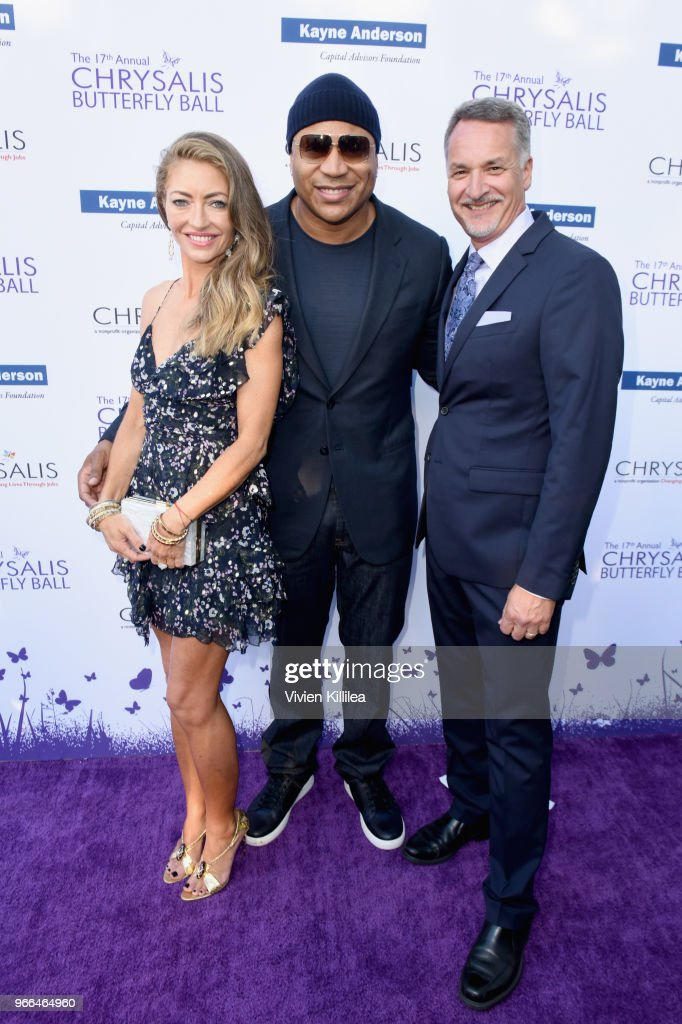 Rebecca Gayheart-Dane, LL Cool J and Mark Loranger attended the 17th Annual Chrysalis Butterfly Ball in Los Angeles, CA on June 2, 2018.