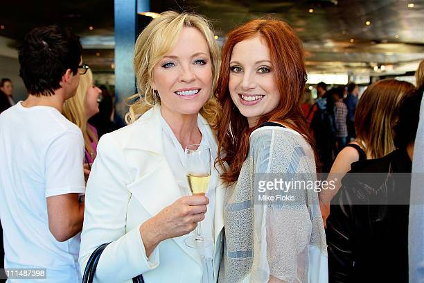 Rebecca Gibney and Hannah Marshall attend the 53rd TV Week Logie Awards nominations announcement at the Overseas Passenger Terminal on April 3 2011...