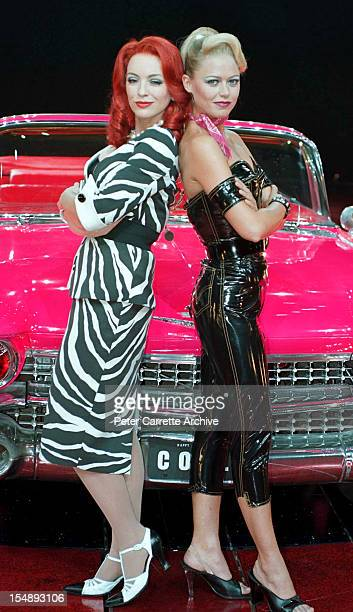 Rebecca Gibney and Jo Beth Taylor during rehearsals for the stage production of 'Happy Days The Arena Mega Musical' at the Sydney SuperDome on...