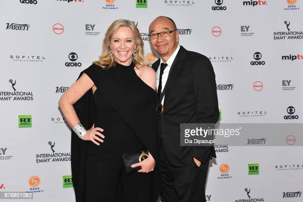 Rebecca Gibney and Tony Ayres of the drama series Wanted attends the 45th International Emmy Awards at New York Hilton on November 20 2017 in New...