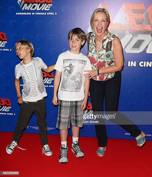 Rebecca Gibney attends the Sydney premiere of The LEGO Movie at Event Cinemas on March 23 2014 in Sydney Australia