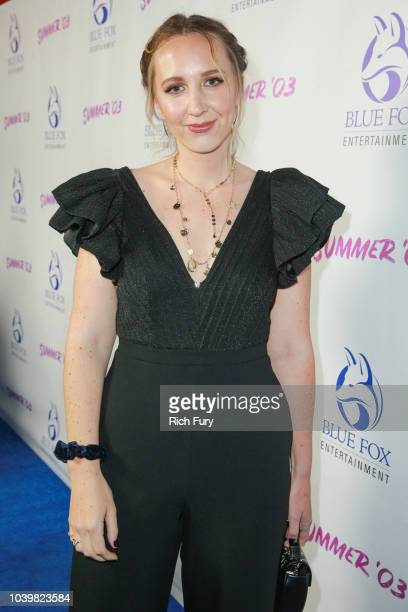 Rebecca Gleason attends the premiere of Blue Fox Entertainment's Summer '03 at the Vista Theatre on September 24 2018 in Los Angeles California