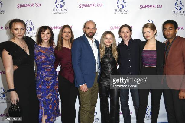Rebecca Gleason Erin Darke Andrea Savage Paul Scheer Joey King Jack Kilmer Kelly Lamor Wilson and Stephen Ruffin attend the Premiere Of Blue Fox...