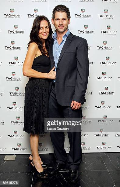 Rebecca Gleeson and Eric Bana arrive for the Tag Heuer Grand Prix party at Le Bar Bistro Guillaume on March 26 2009 in Melbourne Australia