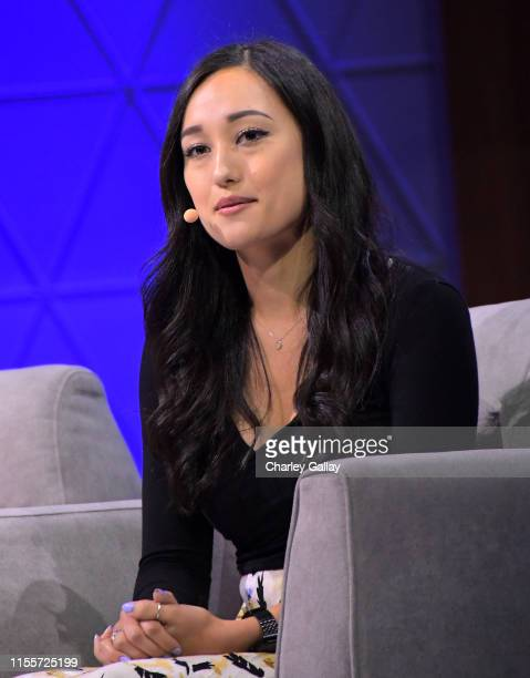 Rebecca Gordius speaks onstage at the 'Minecraft The Next Ten Years' panel during E3 2019 at the Novo Theatre on June 13 2019 in Los Angeles...