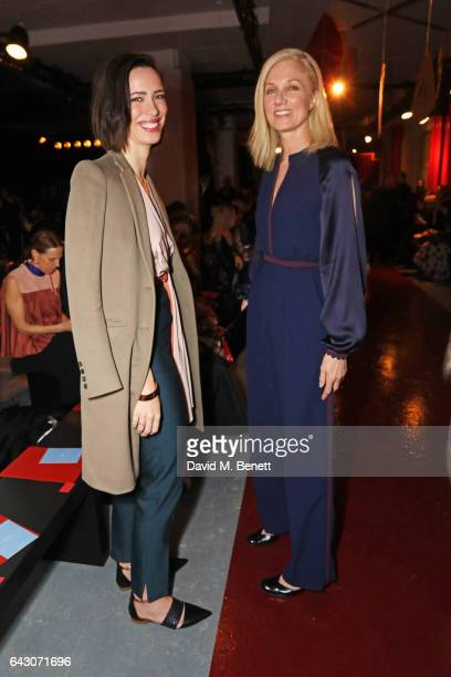 Rebecca Hall and Joely Richardson attend the Roksanda show during the London Fashion Week February 2017 collections on February 20 2017 in London...