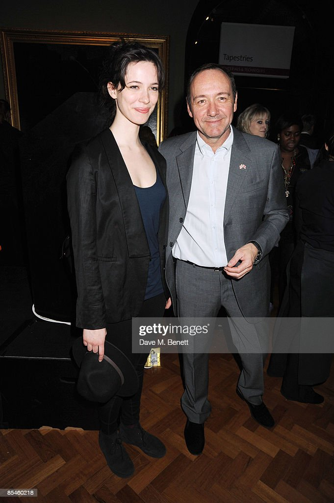 Rebecca Hall and Kevin Spacey attend the launch party for the Victoria & Albert Museum's new theatre and performance galleries, which were opened by Sir Peter Hall and Labour's new Culture Minister Barbara Follett at the Victoria & Albert Museum on March 16, 2009 in London, England.