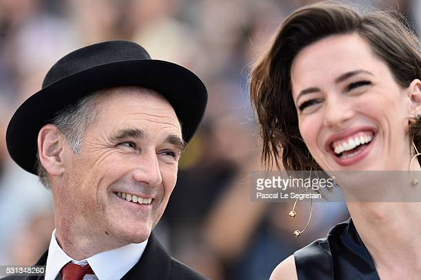 Rebecca Hall and Mark Rylance attend The BFG photocall during the 69th annual Cannes Film Festival at the Palais des Festivals on May 14 2016 in...
